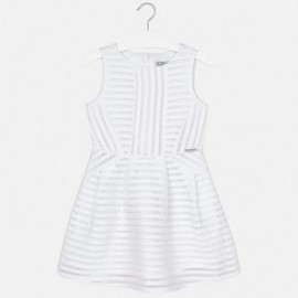 Mayoral 6941-18 Sukienka ażur kolor Biały