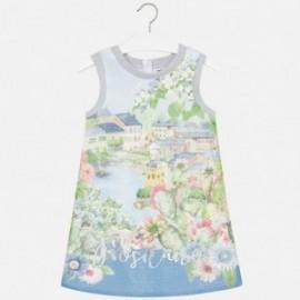 Mayoral 6933-55 Sukienka siateczka pejzaż kolor Błękitny