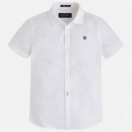 Mayoral 139-37 Koszula kr.ręk. len basic kolor Biały