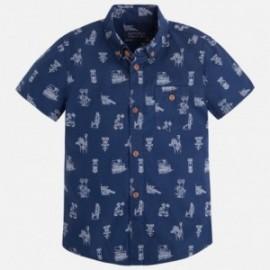 Mayoral 3151-17 Koszula krót.ręk. nadruk kolor Nieb.ciem