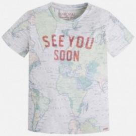 Mayoral 3021-84 Koszulka krót.ręk.mapa kolor Kamieł