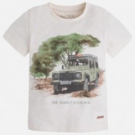 """Mayoral 3027-16 Koszulka k/r """"jeep"""" kolor Krem"""