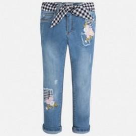 Mayoral 3531-61 Spodnie długie jeans z haftem kolor Basic