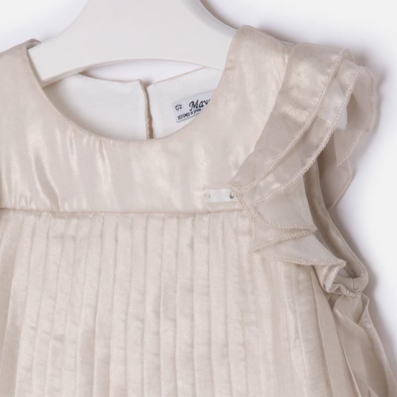 53508c3970 Mayoral 3933-22 Sukienka plisowana kolor Metaliczny