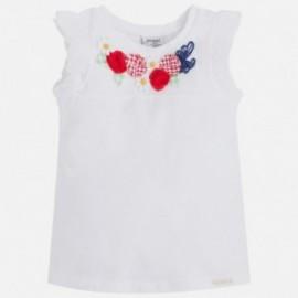 Mayoral 3093-93 Koszulka na ramiącz. kwiaty kolor Biały