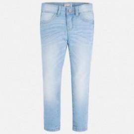 Mayoral 75-63 Spodnie długie jeans basic kolor Bleached