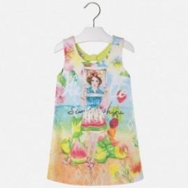 Mayoral 3997-50 Sukienka dzianina lalka kolor Limonka