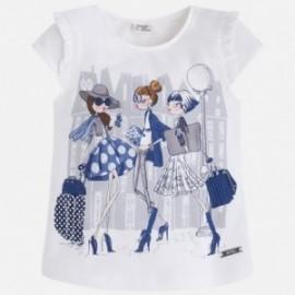 Mayoral 3063-50 Koszulka k/r dziewcz.zakupy kolor Granatowy