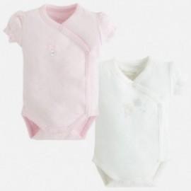Mayoral 2718-38 Komplet 2 body krótki rękaw kolor Róż.baby