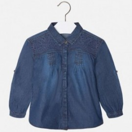 Mayoral 4152-48 Bluzka luźna jeans kolor Ciemny