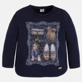 Mayoral 4048-14 Koszulka d/r kraty pies kolor Granatowy