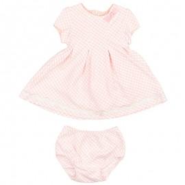 Mayoral 2930-26 Sukienka kratka vichy kolor Różowy