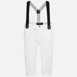 Mayoral 1525-67 Spodnie szelki kolor Biały