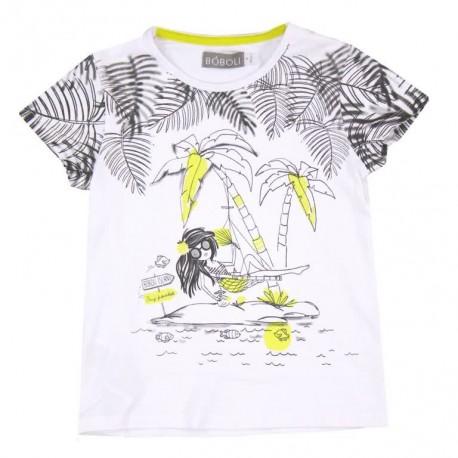 Boboli 473015-1100 T-shirt kolor BIAŁY