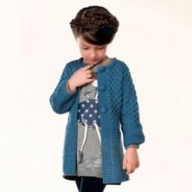Mayoral 4480-58 Płaszcz trykot z szalikiem kolor Niebieski