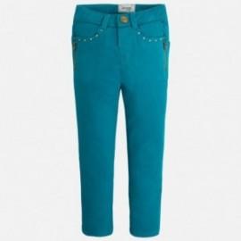 Mayoral 4552-54 Spodnie długie suwaki kolor Turkus