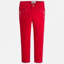 Mayoral 4552-53 Spodnie długie suwaki kolor Czerwony