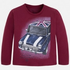 Mayoral 4016-58 Koszulka d/r samochód kolor Bordowy