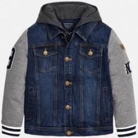Mayoral 7456-5 Kurtka jeans z łączeniami kolor Jeans