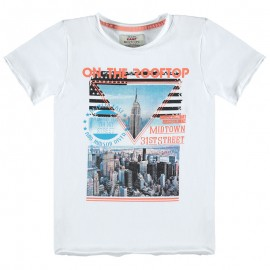 Kanz T-shirt 1714421-1000 kolor biały