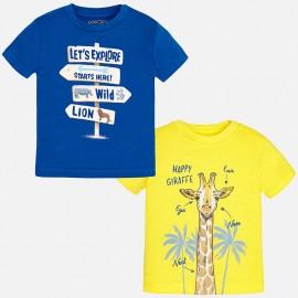 Mayoral 1025-20 Zestaw 2 koszulki gładkie kolor śródziemny