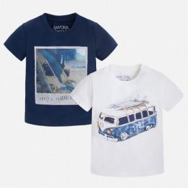 Mayoral 3039-59 Zest. 2 koszulki k/r gładkie kolor Nieb.ciem
