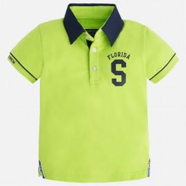 Mayoral 3123-31 Koszulka polo k/r gładka kolor Guacamole