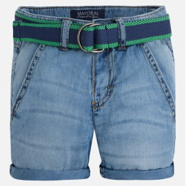 Mayoral 3207-19 Bermudy jeans z paskiem kolor Basic