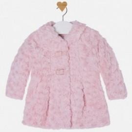 Mayoral 2432-36 Płaszcz z futerkiem kwiatki kolor Różowy