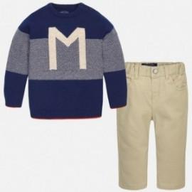 Mayoral 2586-48 Zestaw sweter spodnie kolor Camel