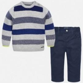 Mayoral 2588-52 Zestaw sweter paski spodnie kolor Granatowy