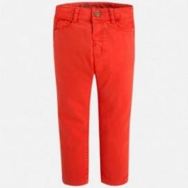 Mayoral 4512-49 Spodnie 5kieszeni serża elast kolor Czerwony