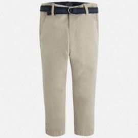 Mayoral 4518-25 Spodnie klasyczne z paskiem kolor Korzenny