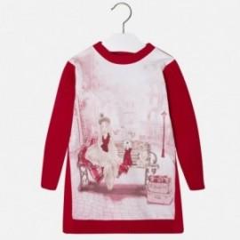 Mayoral 4954-69 Sukienka pieski biel kolor Czerwony