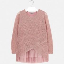 Mayoral 7928-74 Sukienka trykot podwójna kolor Różowy