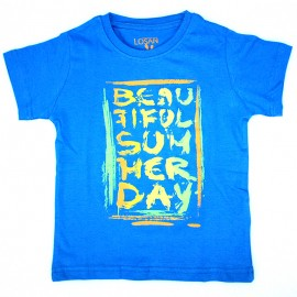 Losan 715-1301AC-085 t-shirt kolor niebieski