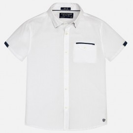 Mayoral 6127-46 Koszula krót. ręk. detale kolor Biały