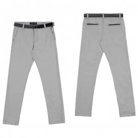 Mayoral 6503-30 Spodnie klasyczne z paskiem kolor Szary