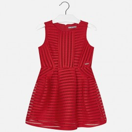 Mayoral 6941-19 Sukienka ażur kolor Arbuzowy