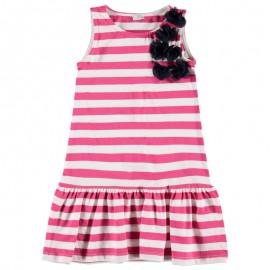 Sukienka KONIGSMUHLE 1760548-2210 pasy biały/czerwony