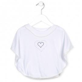 Losan 716-1005ad bluzka ponczo kolor biały