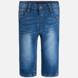 Mayoral 503-76 Spodnie jeans slim fit basic kolor Ciemny