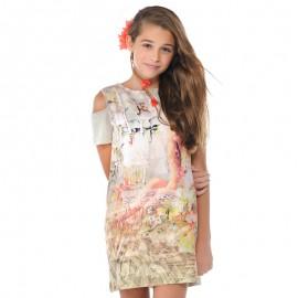 Mayoral 6961-83 Sukienka dzianina dziewcz.kwi kolor Oliwkowy
