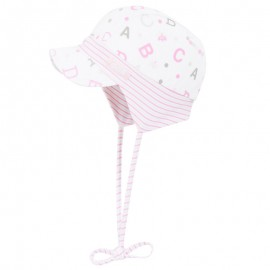 Doll 1731145618-2720 Czapka sznurowana z daszkiem dżersej kolor biały/róż