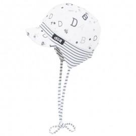 Doll 1731145618-2720 Czapka sznurowana z daszkiem dżersej kolor biały/granat