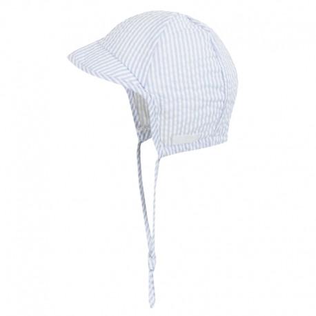 Doll 1731169501-3090 Czapka sznurowana z daszkiem kolor biały/niebieski