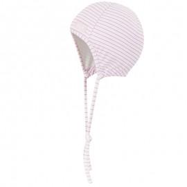 Doll 1731652619-2720 Czapka sznurowana dżersej kolor biały/róż