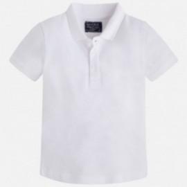 Mayoral 150-41 Koszulka polo k/r pika basic kolor Biały