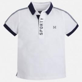 Mayoral 3127-69 Koszulka polo k/r splot pika kolor Biały