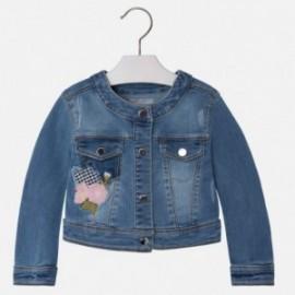 Mayoral 3467-61 Kurtka jeans z haftem kolor Basic